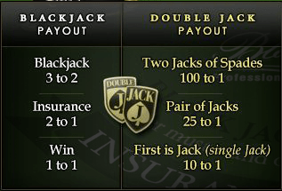 Double Jack sidebet Blackjack Professional Series