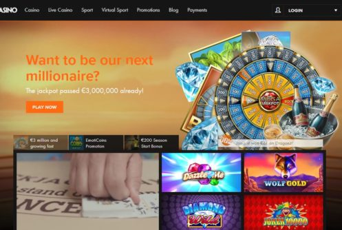 De responsive website van Kroon Casino
